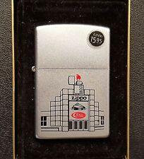 Zippo 2000 Barbour Street Office Building Art Lighter Unstruck w/ Case Business