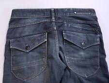 """H&M &Denim Mens 34 x 34 Inseam 27"""" Distressed Dark Wash Jeans"""