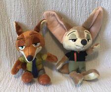 Two Disney Zootopia Plush Tomy Nick Wild Finnick