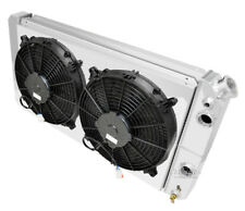 "3 Row RS Radiator,12"" Fans,Shroud,1 1/2"",1 1/2"" for 1986-2005 Chevy S10 LS Swap"