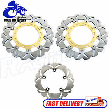 Front Rear Brake Disc Rotor for Yamaha YZF R1 2007-2014 & YZF R6 2005-2016 Gold