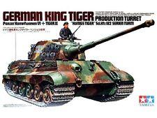 """TAMIYA WWII German King Tiger """"Production Turret"""" Model Kit 1/35"""