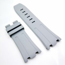 28mm Gray FVMQ Silicone Rubber Watch Strap For AP Royal Oak Offshore 42mm Model