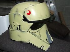 STAR WARS SHORE TROOPER FIBREGLASS HELMET FULL SIZE + PADDING READY TO WEAR