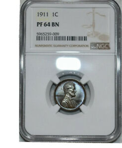 The Rare & now Highly sought after 1911 Matte Proof In PF 64! Only 1725 Minted!