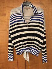 Karen Kane Red 23 Stripe Shirt Medium