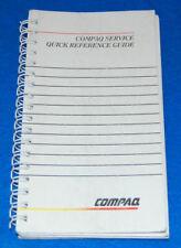 Compaq Service Quick Reference Guide, #107315-009,1990 Edition