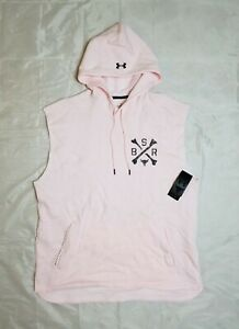 Under Armour Men's XL Project Rock Charged Cotton Sleeveless Hoodie 1357182-643