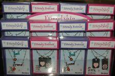 Job lot 12 pcs Girls Friendship Necklace Sets Brand New in Display Box
