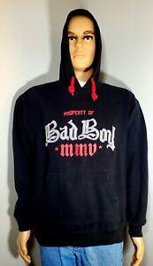 "Rare BadBoy Black Pull Over Hoodie Men's Large ""Property Of Bad Boy 2005"" MMA"