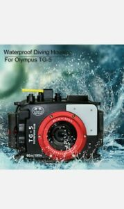 Seafrogs 60m/195ft Waterproof Underwater Camera Housing for Olympus TG-5. New