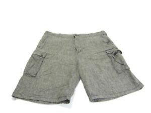 Levi's Shorts Gray White Chambray White Tab Cargo Pockets Mens Size 40