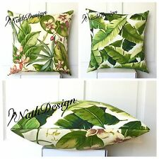 TommyBahama Tropical Flower & Richloom Palm Banana Leaf Cushion/Pillow Cover