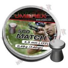 PLOMBS UMAREX MATCH PRO CAL 4.5 mm TÊTE PLATE 500 PCS DANS PLOMB AIR COMPRESS