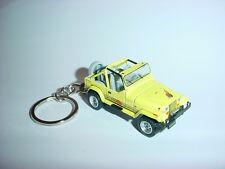 HOT 3D YELLOW JEEP WRANGLER CUSTOM KEYCHAIN keyring key 4x4  islander 1990
