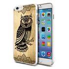 Wooden Owl Design Shockproof Hard Case Cover For Mobiles