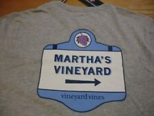 "Vineyard Vines ""MV Signs"" L/S Pocket T-Shirt, NWT - Boys L (16) + XL (18) - Gray"