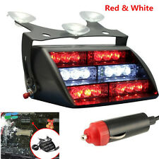 18 LED Red White Auto Car Dash Windshield Emergency Warning Strobe Flash Light