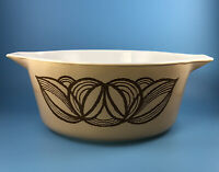 Vintage Pyrex Raffia Brown Onion 2.5 Qt 475B Covered Casserole No Lid 1973