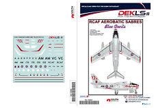 1/144 Decals Canadair Sabre - RCAF Blue Devils Team DEKL's II