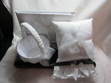 Studio Wedding Day Ensemble by Hobby Lobby Matching 4-Piece Set White Satin