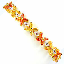 "Silver Plated Sapphire Fine Bracelets 7.5 - 7.99"" Length"