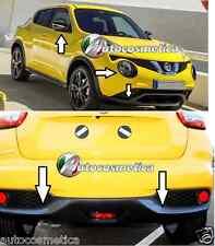 Nissan Juke 2014 cover fari+cornici paraurti anter+post+specchi COLORE carbonio