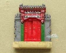 China Peking Hutong Chuihua Gate Courtyard Reiseandenken 3D Kühlschrank Magnet
