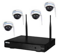 4-Kanal Überwachungsset WLAN NVR HD Domekamera Überwachungskamera IP Fernzugriff