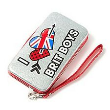 "Glitter ""I Love Brit Boys"" Smartphone Wristlet iPhone 5 and 5s One Direction-NEW"
