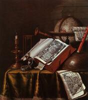 Art Oil Edwaert Collier - Still Life with Musical Instruments book Candlesticks