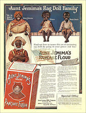 REPRINT PICTURE old AUNT JEMIMA'S RAG DOLL FAMILY pancake flour ad CREM 5 5/16x7