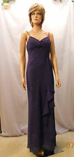 New Spectacular Violet Sparkly Gown w Side Ruffle by Masquerade $80.00 Retail, 7