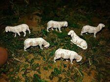 6 pecore pastori 3.5 cm landi moranduzzo minuterie presepe miniature sheep crib