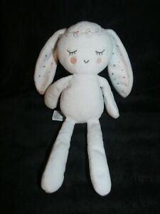 peluche doudou lapin blanc rose gris pois fleur couronne 30 cm simba toys