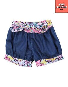 BEETLEJUICE Denim Shorts Size 4-5Y Contrast Waist & Cuffs