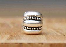 JS341 C3 clip stopper Silver charm bead Fit European Bracelet/Necklace Chain