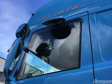 To Fit Pre 09 Scania P G R Series Tinted Window Rain Deflectors Short - Adhesive