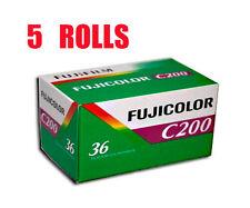 5 Rolls Fujifilm FujiColor C200 35mm-36Exp 135-36 Color Print Film Fresh 2021