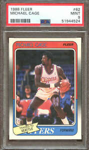 1988 Fleer Basketball #62 Michael Cage PSA 9 51944524