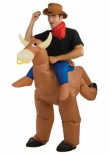 Bullrider Inflatable Costume Adult Funny Blow Up Cowboy Bull Rider Cow Rodeo
