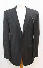 STUDIO JEFF BANKS Black Wool Men's Pinstripe Single Breasted Blazer Jacket UK 38