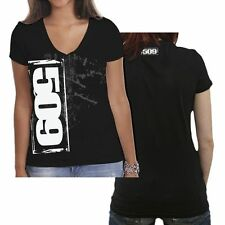 509  CLOTHING APPAREL - 509 STENCIL WOMENS V-NECK T-SHIRT LARGE   # 509-17252