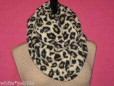 Handmade Cowl/Infinity Scarf - Fleece - Leopard Print - OS