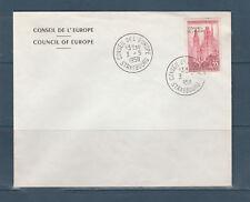 FRb enveloppe du Conseil de l' Europe  67 Strasbourg 1958 1er timbre de service