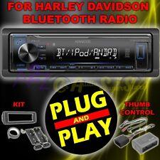 FOR 98-2013 HARLEY DAVIDSON TOURING PLUG & PLAY USB KMM-BT222U RADIO STEREO KIT