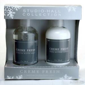 Studio Hall Creme Fresh Liquid Hand Soap & Shea Butter Lotion Set 8 oz ea NIB