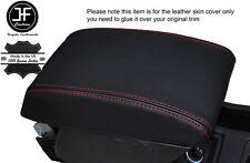 Cuciture rosse Bracciolo Coperchio Pelle copertura si adatta a SEAT Leon 2013-2016