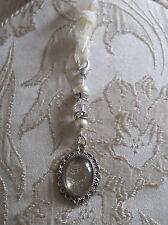 Ivory & Crystal memorial photo Bouquet Charme fait avec Swarovski Perles