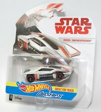 Hot Wheels Star Wars Carships Rebel SnowSpeeder Die Cast Great for Tracks NEW